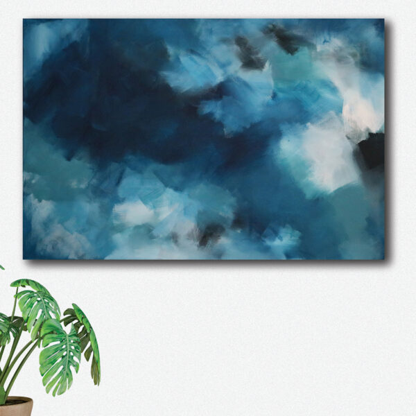 Moments by Charlie   Journey of Creative Pursuits by South Australian artist, illustrator and surface pattern designer Charlie Albright. Blue abstract artwork titled Make A Diifference, Everywhere You Go. Available on the Moments by Charlie online shop and Bluethumb.