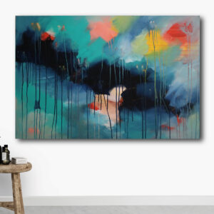 Moments by Charlie | Journey of Creative Pursuits by South Australian artist, illustrator and surface pattern designer Charlie Albright. Colourful abstract artwork titled Enjoy The Moments 1 from the Enjoy The Moments Mini Series. Available on the Moments by Charlie online shop and Bluethumb.